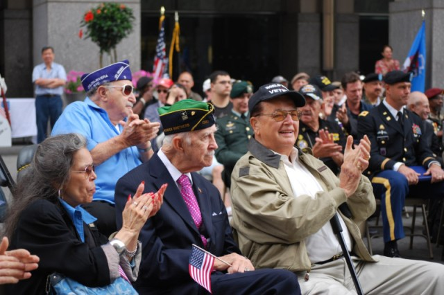 Veterans from New York City and the surrounding area attended an Army Birthday Concert at the Vietnam Veterans Memorial Plaza June 14.