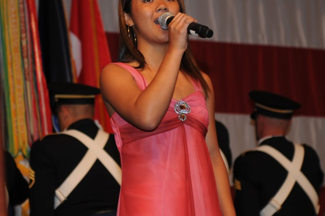 HONOLULU, Hawaii--The 235th Army Birthday Commemoration commenced with the singing of the National Anthem at the Hilton Hawaiian Village, here, June 12.