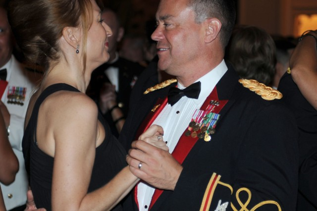 HONOLULU, Hawaii-Col. James Spangler, chief of staff, 94th Army Air and Missile Defense Command dances with his wife at the conclusion of the formal portion of the 235th Army Birthday Commemoration, at the Hilton Hawaiian Village, here, June 12.
