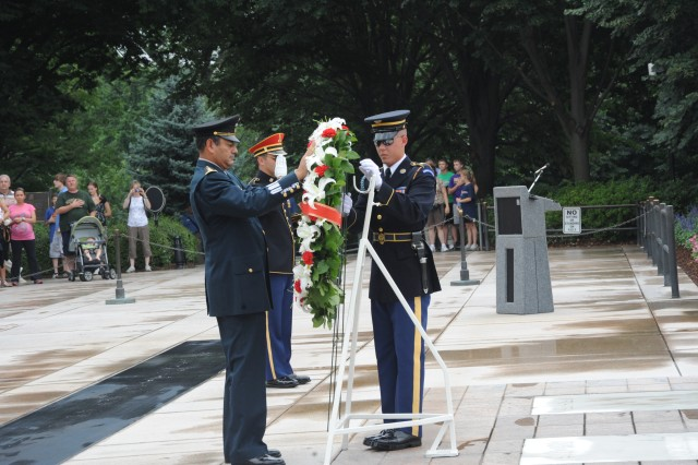 Fifth Army Inter-American Relations Program visit to JFHQ-NCR and Arlington Cemetery