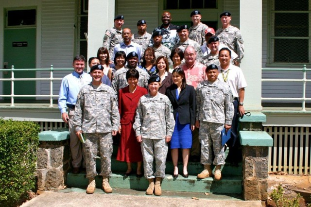 AMC Commander visiting the troops in Hawaii