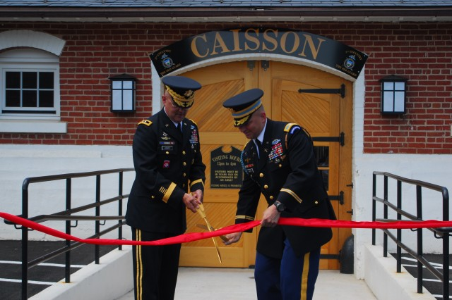 Caisson ribbon-cutting ceremony