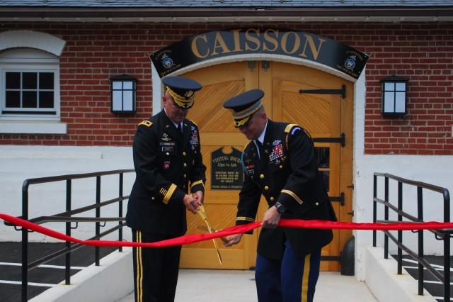 Caisson ribbon-cutting ceremony