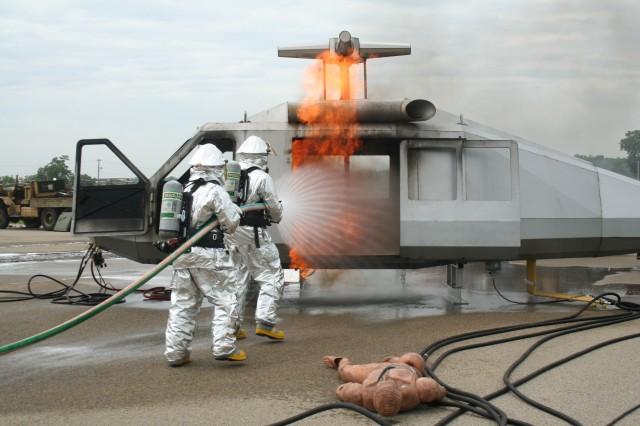 Fire Power, Army Reserve firefighters train at Fort Riley