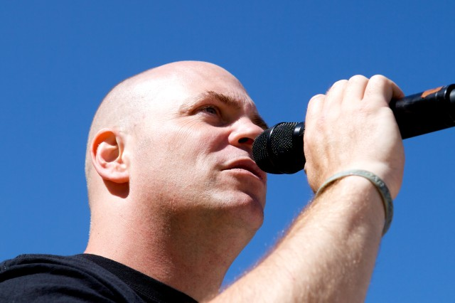 Staff Sgt. Randy Wight's range of vocal diversity allows the Volunteers to perform a wide variety of American pop music.
