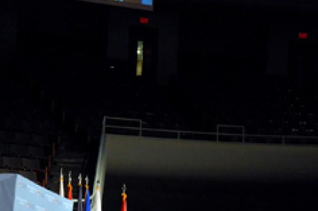 U.S. Central Command Commander Gen. David Petraeus delivers his address at the Korean War Veterans Appreciation ceremony June 21 at the Community of Christ Auditorium in Independence, Mo.