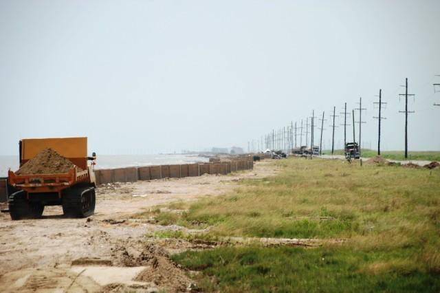 Guard building coastal barriers