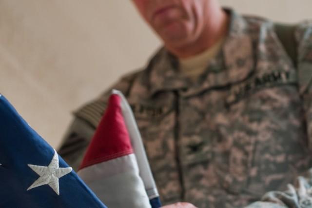 Tattered flag treasured by brigade commander