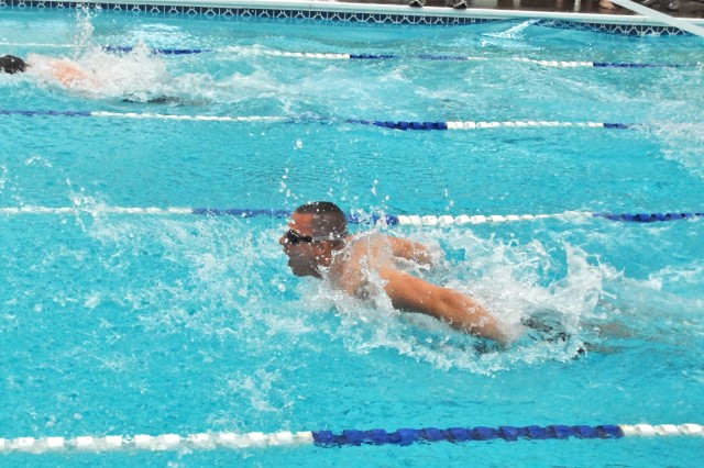 Charlie Battery dominates swim meet