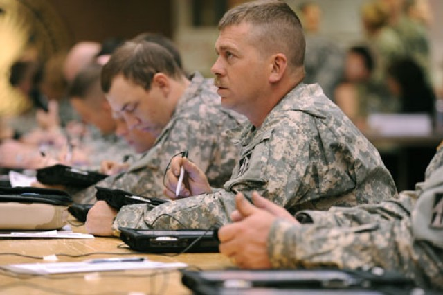 Soldiers complete the Post-Deployment Health Reassessment.