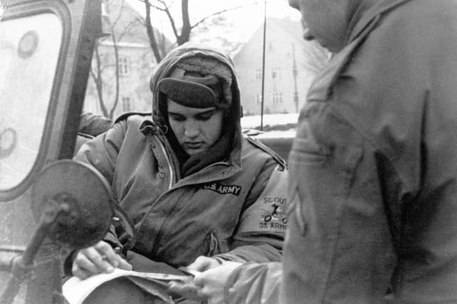 Elvis Presley was stationed in Grafenwoehr in 1958.