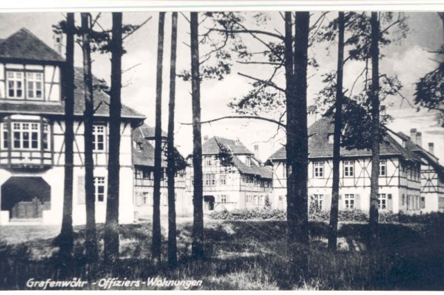 Undated photo of officer housing, Grafenwoehr.
