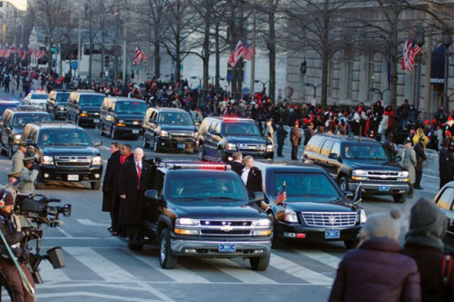 The Secret Service provides transportation for the president, and the NCOs of the White House Transportation Agency provide transport for guests of the president, as well as the press corps assigned to the event.