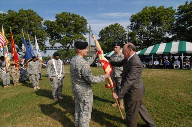Change of Command at Ft. Hamilton on June 29, 2010