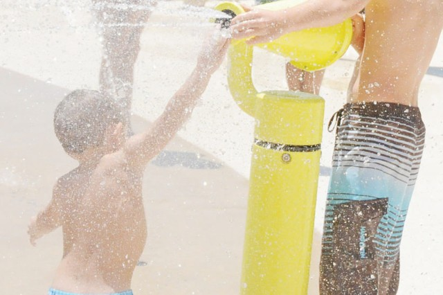 Water guns are always popular at the Splash! water park. DFMWR staff invites Fort Rucker Soldiers and Families to begin their Independence Day weekend celebrations poolside July 3 from 10 a.m. to 4 p.m. at Splash! located behind The Landing.