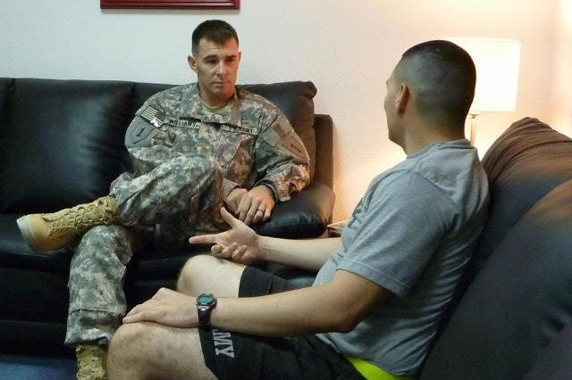 Army psychiatrist helping Soldiers in Iraq