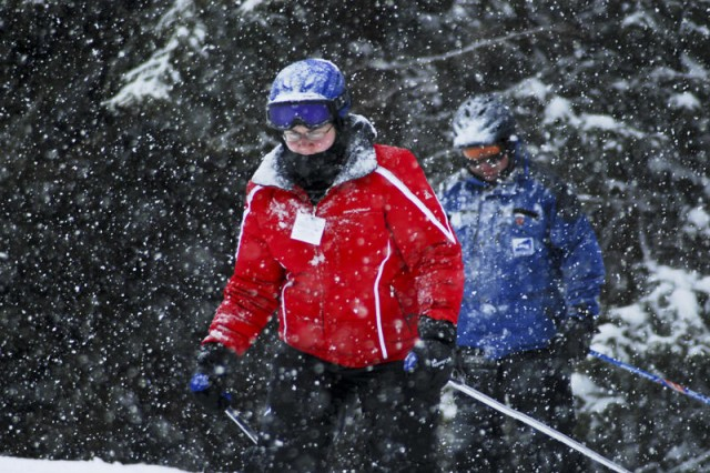 Spc. Jessica Printy enjoys skiing and keeps active since her cancer diagnosis in 2008 of Hodgkin's Lymphoma. She is starting a cancer survivor's group to discuss conditions and give support at Fort Belvoir, Va.