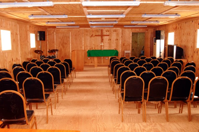 TF 12's Victory Chapel nears completion for July dedication