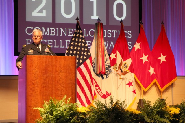 RICHMOND, Va. -- Gen. George W. Casey Jr., Army chief of staff, gives the keynote address at the 6th Annual Combined Logistics Excellence Awards ceremony in Richmond, Va.