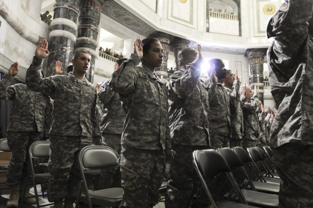 United States Forces-Iraq service members become U.S. citizens in July 4 naturalization ceremony