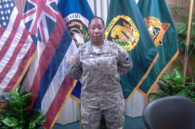 Staff Sgt. (P) Nickea Harris is a contracting non-commissioned officer with the 413th Contracting Support Brigade Battalion, Fort Shafter, Hawaii.