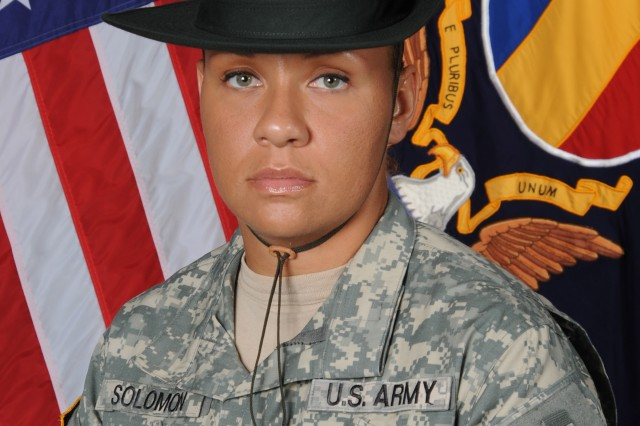 Staff Sgt. Melissa Solomon will spend a year at TRADOCAca,!E+serving as a liaison between drill sergeants and Initial Entry Training commanders.