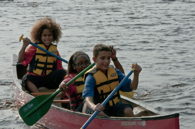 Fort Bragg youth enjoy canoeing on Smith Lake