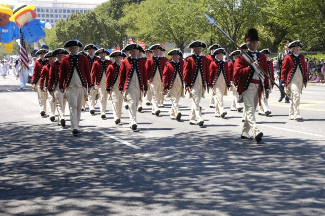 The Old Guard marches in parade