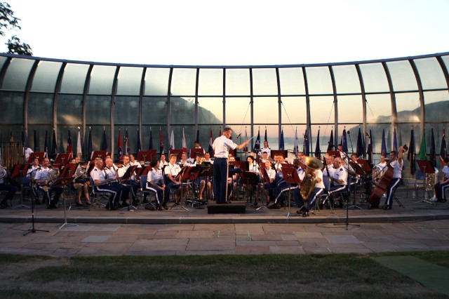 The West Point Band performed at the Independence Day concert at Trophy Point July 3. Lt. Col. Timothy Holtan conducted his last concert at West Point before Maj. James Keene took over command at a Change of Command ceremony during the concert.