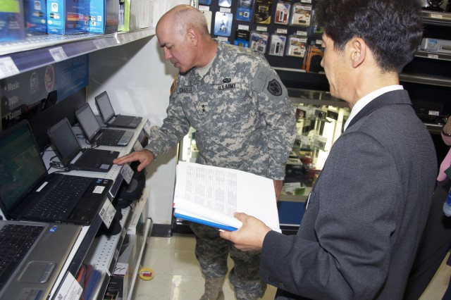 AAFES commanding general inspects the merchandise