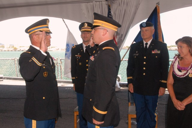 Dual ceremony highlights family military tradition