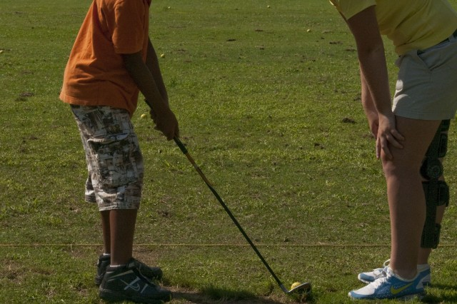 Fort Bragg youth take swings at golf clinics