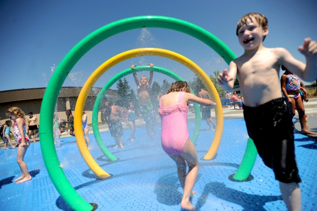 Hundreds of children visited the Splash Park last  week as temperatures set records in the Puget Sound area.