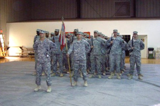 Capt. Jason Wood heads a formation of the 89th Transportation Company as they prepare to redeploy from Iraq in 2008. Wood was named 2009 Army Transportation Corps Regimental Officer of the Year at a ceremony July 9 at Fort Eustis, Va.