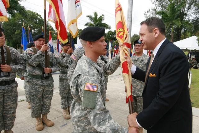 Fort Buchanan change of command