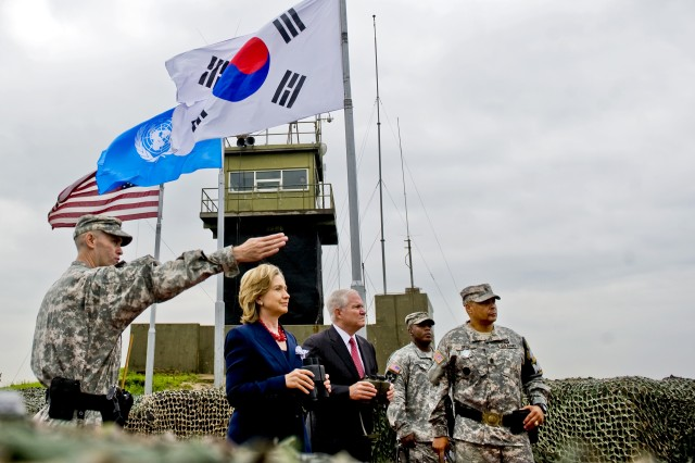 Clinton, Gates Reaffirm U.S. Commitment to South Korea