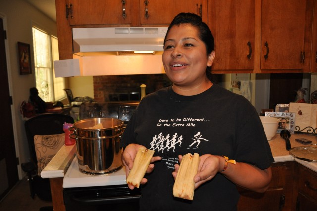 Jessica Campoverde sells homemade tamales to raise money to participate in an Avon Walk for Breast Cancer, Sept. 11-12 in Santa Barbara, Calif.