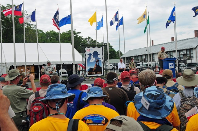 """""""Celebrate Scouting"""" stamp unveiled at Fort A.P. Hill"""