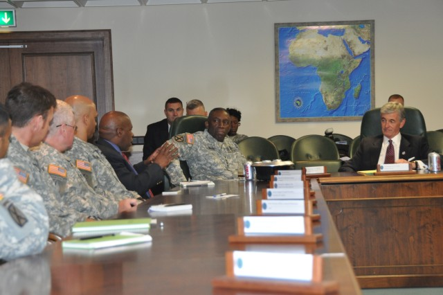 Army Secretary McHugh rallies with U.S. Africa Command