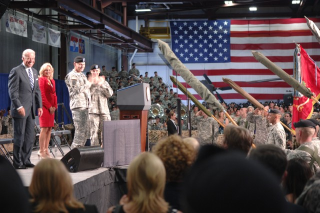 Vice President, Dr. Biden Welcome Soldiers Home at Fort Drum