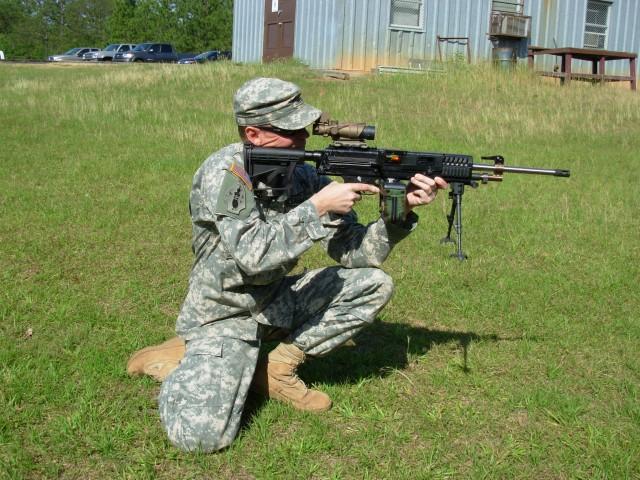Soldier with Light Machine Gun