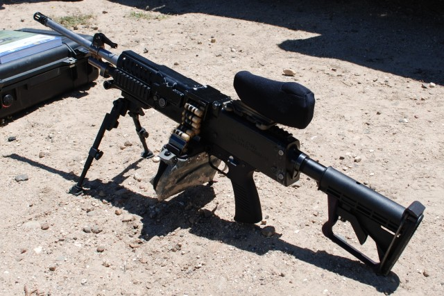 The cased telescoped light machine gun, currently being developed by the Armament Research, Development and Engineering Center, features a rotating chamber design that alleviates the common problem of failure to feed and failure to eject.