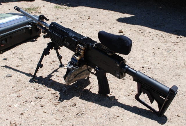Cased telescoped light machine gun