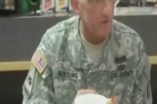 Lt. Gen. Hertling bowling alley