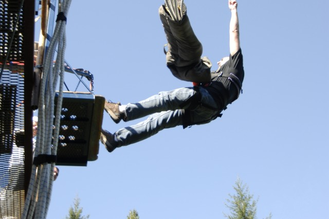 For those seeking high adventure, JBLM Outdoor Recreation offers bungee jumping on a regular basis.