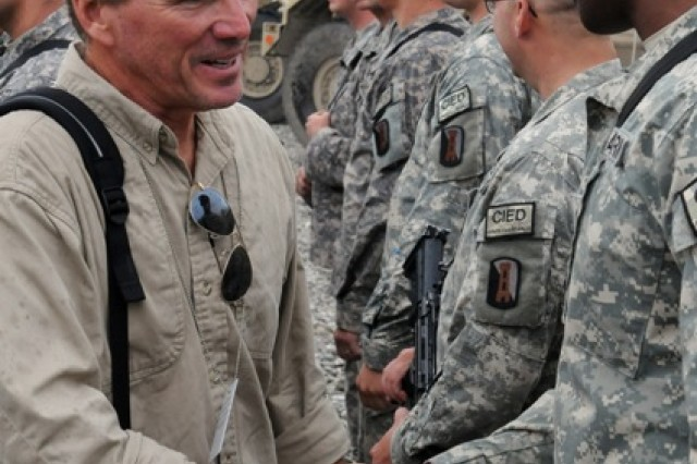 Congress members visit troops at FOB Lightning