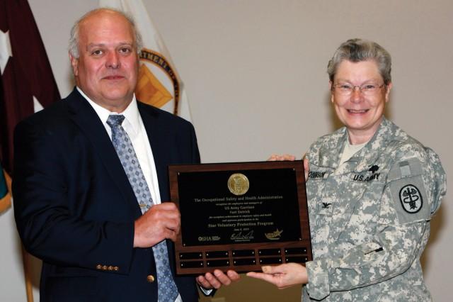 Fort Detrick first US Army Garrison awarded Star Status in OSHA's VPP