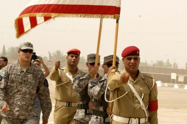 US, Iraqi leaders bid farewell to last American combat brigade