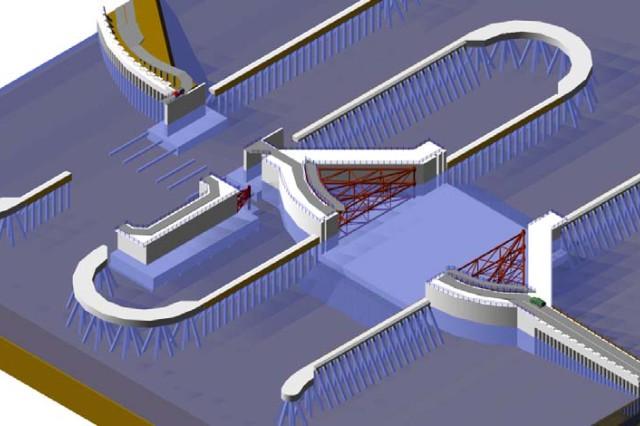Illustration of GIWW surge barrier gate