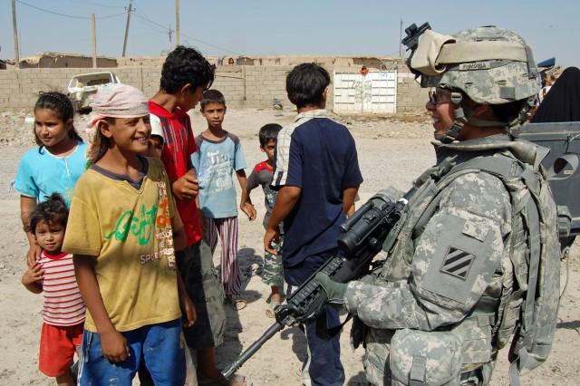 Desert Cat Soldier volunteers for humanitarian aid drop